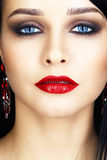 Close-up shot of woman face Stock Photos