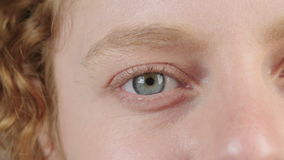 Close up shot of a woman's eye stock video footage