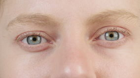 Close up shot of a woman's eye stock video