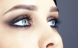 Close-up shot of woman's eyes Royalty Free Stock Photo