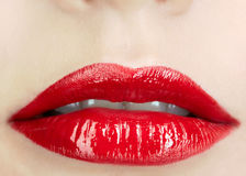 Close-up shot of woman's lips Royalty Free Stock Image