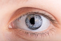 Close up shot of a womans eye Stock Photo