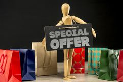 Special offer shopping sign Stock Photography