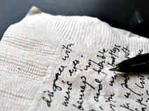 Close up shot of written words Royalty Free Stock Photography