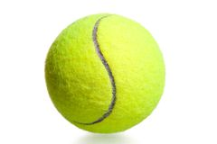Close-up shot yellow tennis ball Stock Photos