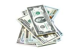 Close-up shots  dollars banknote Stock Photos