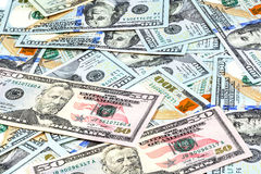 Close-up shots  from fifty dollars banknote Stock Photography
