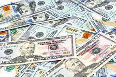 Close-up shots  from one hundred dollars banknote Royalty Free Stock Photos