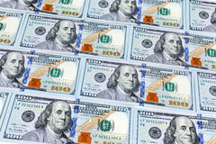 Close-up shots  from one hundred dollars banknote Stock Photography