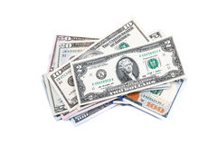 Close-up shots  from one hundred dollars banknote Royalty Free Stock Photography