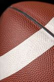 Football Art 0014. Close-up showing the texture of a football with the stripe royalty free stock photography