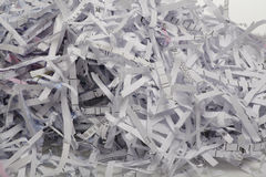 Close up of shredded paper for background. Royalty Free Stock Photo