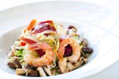 Close up shrimp salad. Royalty Free Stock Image