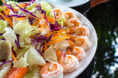 close up Shrimp Salad Stock Images