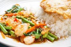 Close up shrimp spicy Royalty Free Stock Photos