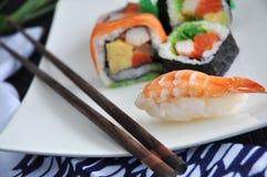 Close up shrimp sushi Royalty Free Stock Images