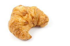 Close up  the side of  croissant. On white background Royalty Free Stock Photography
