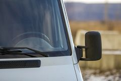 Close up of side rear-view mirror on a modern car.  Stock Images