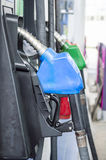 Close up side view fuel nozzle fuel oil gasoline Royalty Free Stock Images