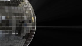 Close-up side view of a silver disco ball with alpha channel stock video footage