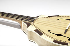 Close-up side view of a traditional mandolin stringed instrument Stock Photos