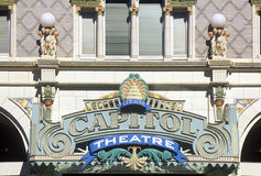 Close up of the sign outside of Capitol Theatre, Salt Lake City, UT Stock Photography