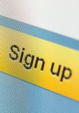 Close up of sign up icon Royalty Free Stock Photography