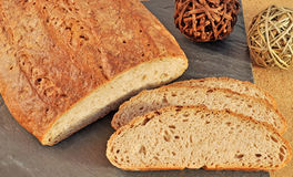 Close-up of Silesian homemade bread. royalty free stock image