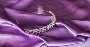 Close-up silver diadem Royalty Free Stock Image