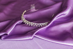 Close-up silver diadem Royalty Free Stock Images