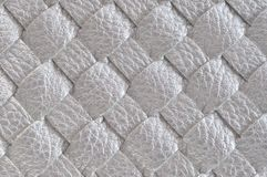 Close up of Silver leather Royalty Free Stock Photos