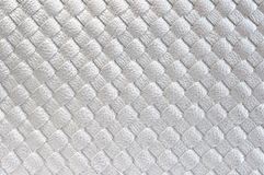 Close up of Silver leather Stock Photos