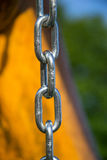 Close up of silver steel chain link Stock Images