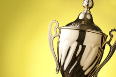 Close up of a silver trophy Royalty Free Stock Photo