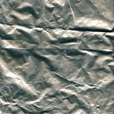 Close-up silver wrapper paper texture Royalty Free Stock Images