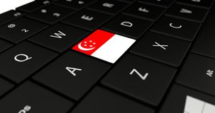 Close up of Singapore button. Royalty Free Stock Photo