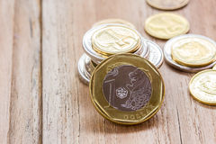 Close up Singapore Dollars coins royalty free stock photos