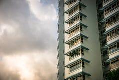 Close-up of Singapore public residential housing apartment in Bukit Panjang. Stock Photo