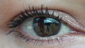 Single eye close up stock footage