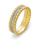 Close-up of single golden bracelet with diamonds royalty free stock image