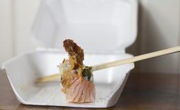 Sushi. Close up of a single piece of shrimp-based sushi Royalty Free Stock Photo