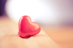 Close up of a single red heart Stock Images