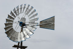 Silver windmill in Lubbock in Texas Royalty Free Stock Images