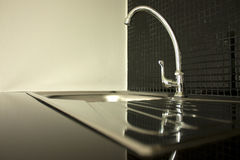Close-up - sink and faucet Royalty Free Stock Image