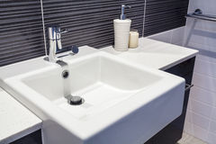 Sink in bathroom Royalty Free Stock Images