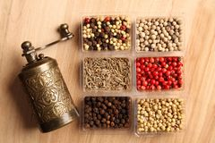 Spices and Mill Royalty Free Stock Image