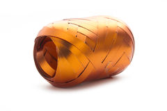 Skein of orange ribbon Royalty Free Stock Images