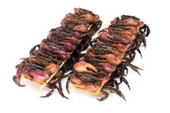 Skewered Crabs For Eating stock photo