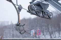 Close up of ski pulley device Stock Photography