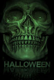 Close up of skull with halloween text under Royalty Free Stock Photos